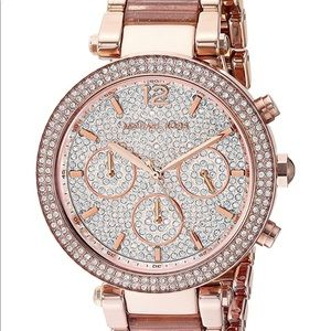 MICHAEL KORS ROSE GOLD Diamond Watch ❤️